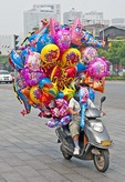 Changsha balloon cyclist
