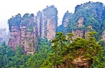 Zhangjiajie National Forest Park view from Yellow Stone Stronghold (Huangshizhai) in Hunan province