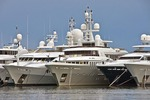 Cannes marina luxury yachts on French Riviera (Cote D'Azur)