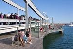 Barcelona's Rambla del Mar pedestrian bridge at Port Vell