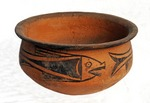 Yangshao Culture pottery bowl with fish pattern from The Banpo Museum, Xi'an, Shaanxi Province, built at excavations of Banpo Neolithic matriarchal community site dating back about 6,000 years ago.