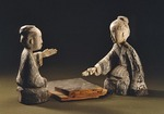 Wooden Board Players, East Han dynasty, Gansu, China