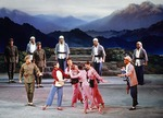 In 1976, Central Ballet Troupe performing Song of Yimeng Mountain (AKA Ode to Yi Meng Mountain), one of five new revolutionary works of Cultural Revolution, on Beijing stage