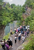 Zhangjiajie National Forest Park in Hunan province, another crowded domestic tourist spot as Chinese standard of living increases in 21st century