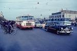 Traffic on Beijing's Changan Boulevard, main east west street, in 1979