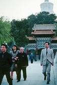 Octogenarian Prince Pujie, younger brother of the Last Emperor of the Qing Dynasty, Puyi, is escorted from Beijing's Bei Hai Park after dining on imperial court cuisine at the Fangshan Restaurant, next to the Forbidden City, in 1988. Renowned for his calligraphy, Pujie was a symbol of leniency for the communist regime and became a party member and deputy in the National Peoples Congress.