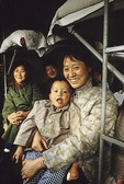 Chinese train hard sleeper compartment passengers in 1979