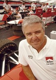 Four-time Indianapolis 500 winner Rick Mears, manager of the Penske Racing Team, in the garage at the Detroit Grand Prix in 2000.