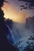 Victoria Falls at dawn from Zimbabwe side