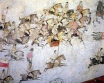 Tang Dynasty cavalry, historical painting