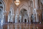 Hassan II Mosque's interior in Casablanca, Morocco