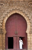Gate to Mausoleum of Moulay Ismail in Meknes, Morocco