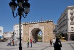 Bab el Bahr or Porte de France entrance gate to the old city Medina in Tunis