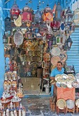 Souk merchant in his shop in the Tunis Medina