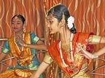 Classical Bharata Natyam dancers in Chennai, Tamil Nadu.