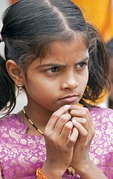 Young Indian girl in Madurai