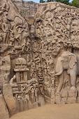 Arjuna's Penance rock relief carvings at Mahabalipuram in Tamil Nadu