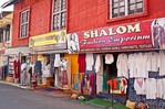 Tourist shops in Jew Town section of Cochin (Kochi)