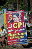 Poster in Kerala for the Communist Party of India