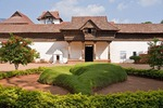 Padmanabhapuram Palace, old 17th century Travancore palace of the Rajas, near Trivandrum is in Tamil Nadu but administered by Government of Kerala.