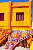 Colorful building along Bay of Bengal waterfront in Kanyakumari, Tamil Nadu.