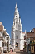 Our Lady of Ransom Church built in Gothic style with Portuguese influence in 1914 in Kanyakumari, Tamil Nadu.