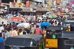Congested street in Chennai, capital of Tamil Nadu.