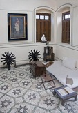 Bedroom of Mahatma Gandhi House, Mani Bhavan Gandhi Museum in Mumbai.