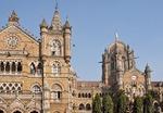 Chhatrapati Shivaji Terminus in Mumbai, formerly the Victoria Central Train Station, in Victorian Italianate Gothic Revival architectural style.