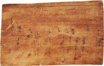 Oldest Chinese map (ink on wood) showing the Wei River in northwestern China in 269 BCE,from Fangmatan, Tianshui, Gansu.