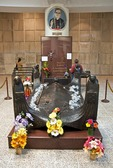 Tomb of martyred Roman Catholic Archbishop Oscar Romero in Metropolitan Cathedral of the Holy Savior in San Salvador.