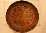 Pre-Columbian Maya pottery plate in Museum of Joya de Ceren (Jewel of Ceren)