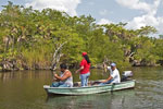 Fishing on the New River in northern Belize