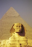 The Sphinx and Khafre Pyramid at Giza