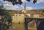 Town of Saint-Antonin-Noble-Val in Rouerge province of France.