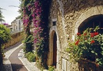 Houses in Saint-Paul-de-Vence, old Medieval town in Southeastern France