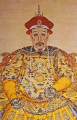 Emperor Qian Long in Imperial gown 1736-1796