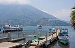 Panajachel ferry dock on Lake Atitlan