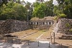 Mesoamerican ball court in the Mayan ruin of Yaxha