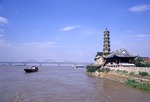 Suo Jiang Pagoda overlooking the Yangtze River at Jiujiang