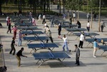 Ping Pong (table tennis) in Sun (Chaoyang) Park in Beijing