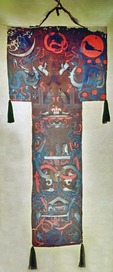 T-shaped Silk Funeral Banner from Mawangdui Western Han Dynasty tomb of Marquise Lady Dai in Hunan Provincial Museum in Changsha