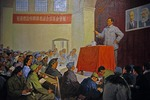 Chairman Mao Zedong speaking in Yan'an in February, 1942