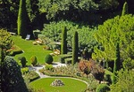 Sunny French garden during summer in Le Baux
