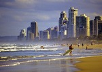 Beach at Surfers Paradise on Queensland's Gold Coast
