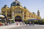 Flinders Street Railway Station is cultural icon in Melbourne