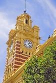 Clock Tower of Flinders Street Railway Station in Melbourne