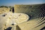 Site of ancient Roman amphitheater at Crusader city of Caesarea