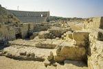 Ruins of ancient Roman amphitheater at Crusader city of Caesarea