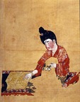 Tang Dynasty painting of Woman in Silk Kimono